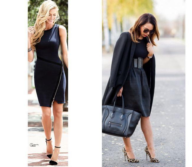 Чорна сукня для офісу - з чим носити?