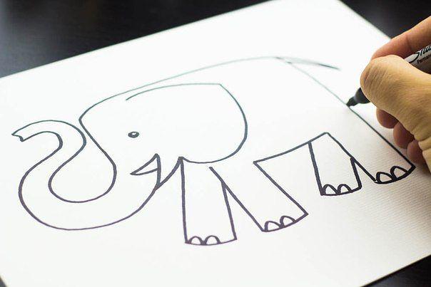 Як намалювати слона олівцем