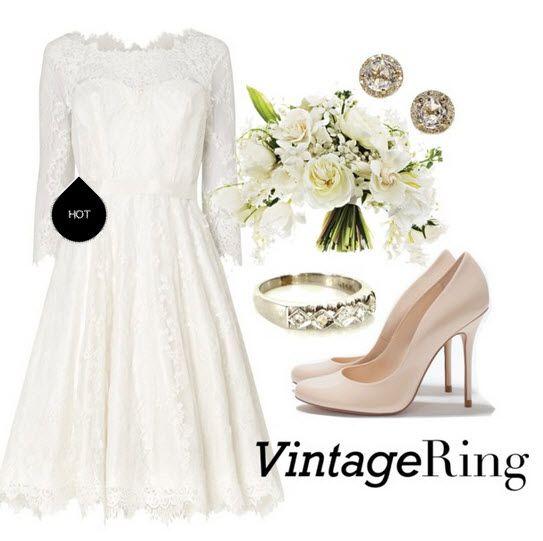 Мереживні короткі весільні сукні