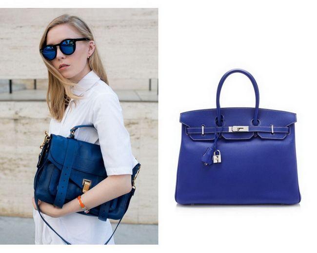 З чим носити синю сумку? Бути в тренді дуже просто! Фото