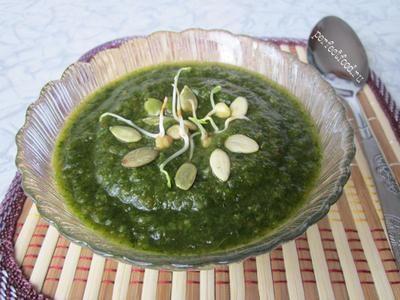 Суп-пюре зі шпинату
