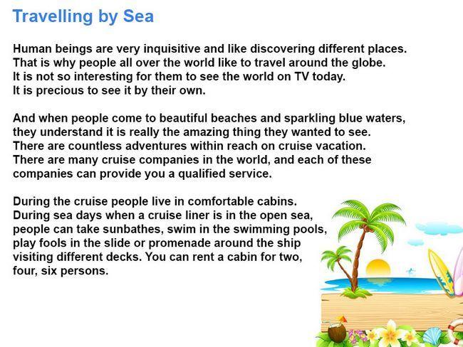 Морська подорож розповідь англійською