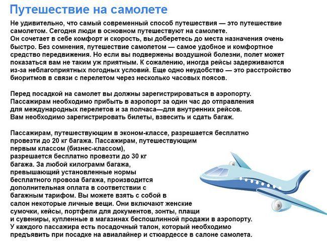 Тема англійською подорож на літаку