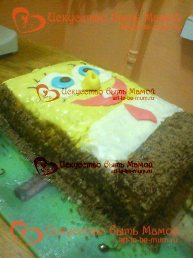 Торт «губка боб» - оригінальний, смачний і простий