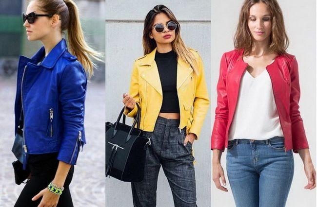 Весняні шкіряні куртки - 60 модних луків